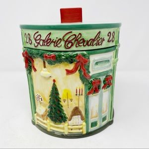 AMERICAN ATELIER Christmas Canister Cookie Jar